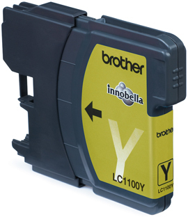 Brother LC-1100Y Yellow Ink Cart. 325 pages