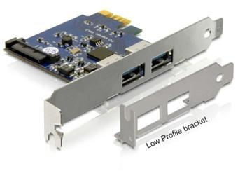DeLock PCI Express x1 USB 3.0 2 port, NEC, + low profile