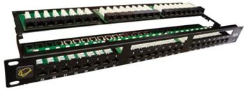 Equip UTP 1U Patch panel 48 port Cat.5e Black