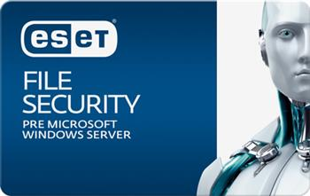 ESET File Security for Windows File Server 3 servre + 1 ročný update GOV