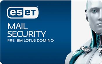 ESET Mail Security pre IBM Lotus Domino 5 - 10 mbx + 1 ro�n� update