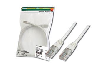 Digitus Patch Cable, UTP, CAT 5e, AWG 26/7, měď, bílý 2m