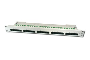 Digitus CAT 3 ISDN Patch Panel, nestíněný, 25 portů RJ45, 8P4C, LSA, 1U, montáž do stojanu, šedá, 482x44x109