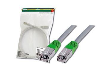 Digitus Patch Cable CROSS, FTP, CAT 5E, AWG 26/7, šedý/zelený, 0,5m