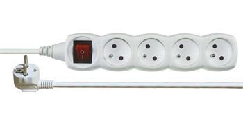 Emos prodlužovací šňůra P1415 - 4 zásuvky, 5m, s vypínačem