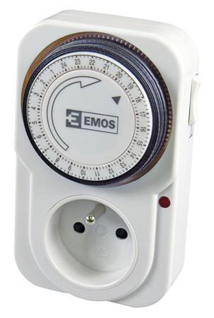 Emos spínací hodiny TS-MD3, mechanické - 1 zásuvka