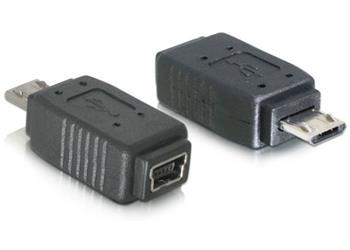 Delock redukce micro USB B samec na USB mini 5pin samice