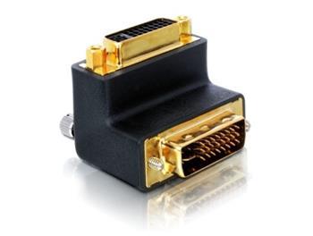 Delock adaptér DVI 24+5 samice - DVI 24+5 samec, pravoúhlý