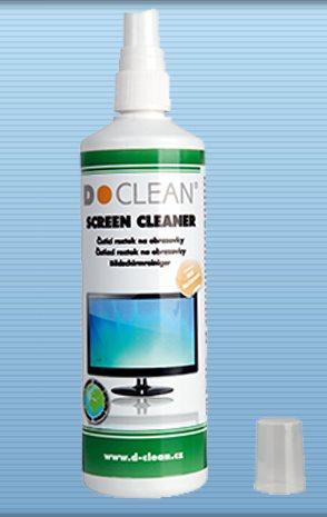 D-Clean Čisticí roztok na obrazovky, LCD monitory, filtry 250ml