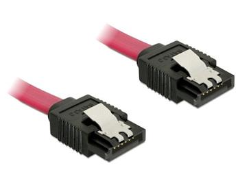 Kabel SATA III 50 cm, přímý, červený