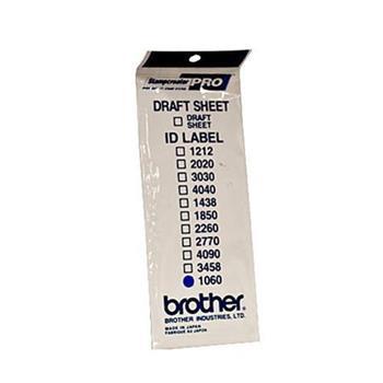 Brother ID-1060, štítek razítka s průhlednou krytkou, 12ks (10x60 mm)