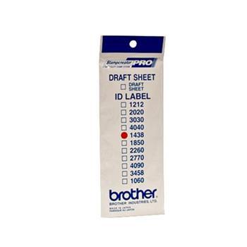 Brother ID-1438, štítek razítka s průhlednou krytkou, 12ks (14x38 mm)