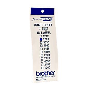 Brother ID-2020, štítek razítka s průhlednou krytkou, 12ks (20x20 mm)
