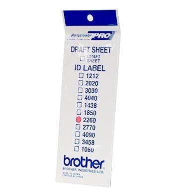 Brother ID-2260, štítek razítka s průhlednou krytkou, 12ks (22x60 mm)