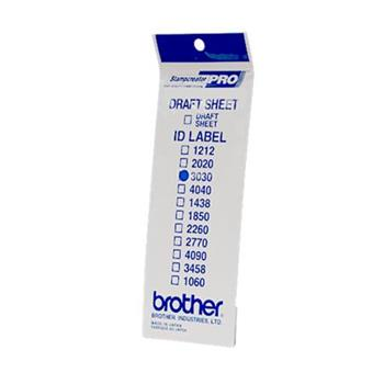 Brother ID-3030, štítek razítka s průhlednou krytkou, 12ks (30x30 mm)
