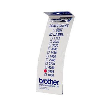 Brother ID-3458, štítek razítka s průhlednou krytkou, 12ks (34x58 mm)