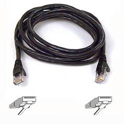Belkin kabel PATCH UTP CAT6 3m černý, bulk Snagless