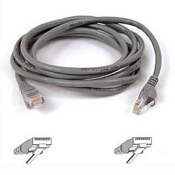 Belkin kabel PATCH UTP CAT5e 50cm šedý, bulk Snagless