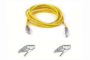 Belkin kabel PATCH UTP CAT5e CROSS 3m šedý/žlutý, bulk