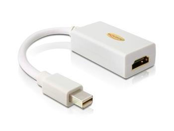 Delock adaptér DisplayPort mini (samec) na HDMI A (samice), bílý