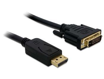 Delock kabel DisplayPort (samec) na DVI 24+1 (samec), 1m