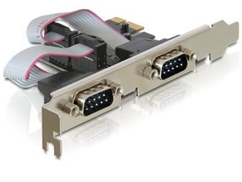 DeLock adaptér PCI Express x1 2x sériový port + low profile