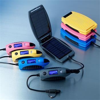 Solární outdoorová záložní nabíječka Powermonkey-eXplorer: panely + powerbank 2200mAh (modrá)