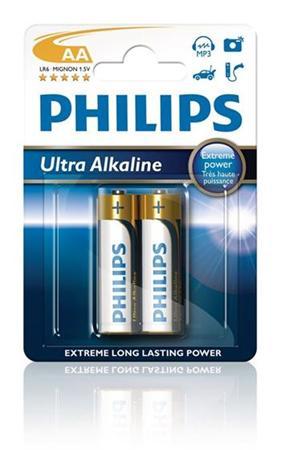 Philips baterie AA ExtremeLife+, alkalická - 2ks
