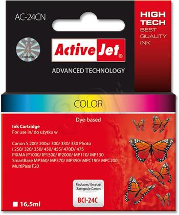 ActiveJet Ink cartridge Canon BCI-24 Col - 16, 5 ml AC-24C
