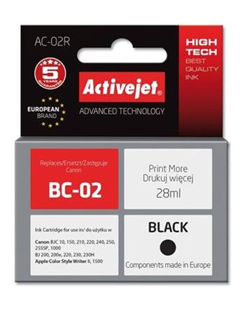ActiveJet Ink cartridge Canon BC-02 Bk ref. - 28 ml AC-02