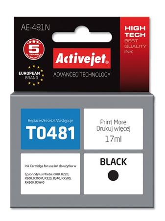 ActiveJet Ink cartridge Eps T0481 R200/R300 BK - 17 ml AE-481