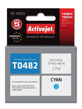 ActiveJet Ink cartridge Eps T0482 R200/R300 Cyan - 17 ml AE-482
