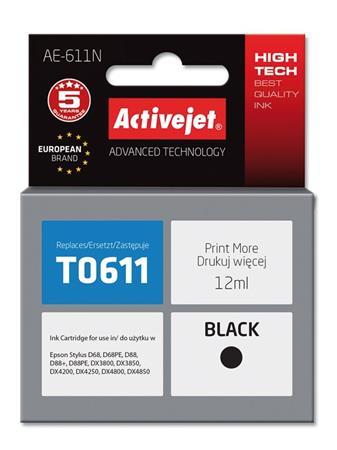 ActiveJet Ink cartridge Eps T0611 D68/D88/DX3800 Black - 13 ml AE-611