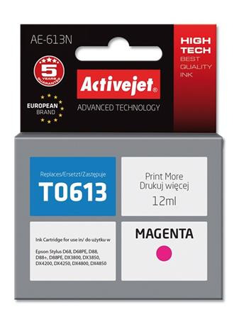 ActiveJet Ink cartridge Eps T0613 D68/D88/DX3800 Magenta - 13 ml AE-613