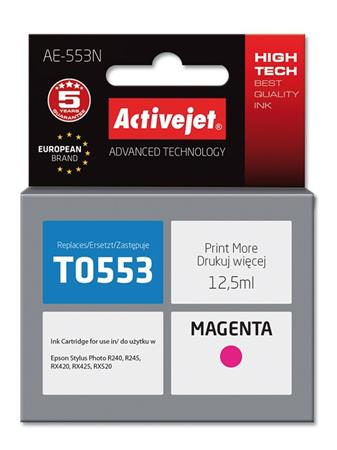 ActiveJet Ink cartridge Eps T0553 R240/R245 Magenta - 12,5 ml AE-553