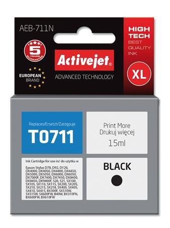 ActiveJet Ink cartridge Eps T0711 D78/DX6000/DX6050 Black - 15 ml AEB-711