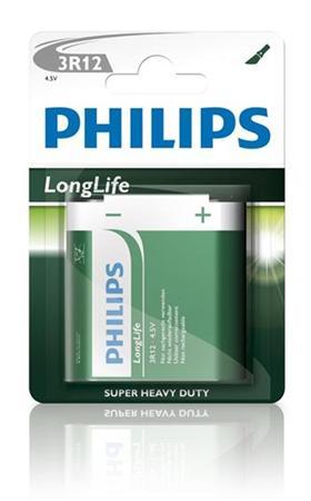 Philips baterie 4,5V LongLife zinkochloridová - 1ks, blister