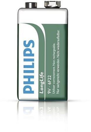 Philips baterie 9V LongLife zinkochloridová - 1ks