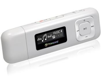 Transcend 8GB Flash MP3 Přehrávač T-Sonic 330, bílý