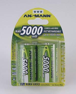 Ansmann akumulátor D NiMH 5000 mAh (2 ks)