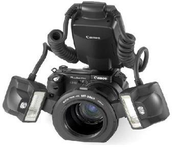 Canon MT-24EX makro blesk, dva reflektory
