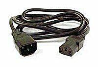 PremiumCord prodlužovací kabel napájení 240V, délka 1m IEC C13/C14