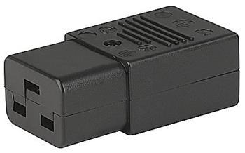PremiumCord konektor IEC C19, 16A, černý