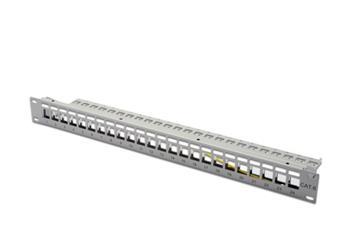 Digitus Modular Patch Panel, stíněný 24 portů, blank, 1U, montáž do stojanu, šedá RAL 7035
