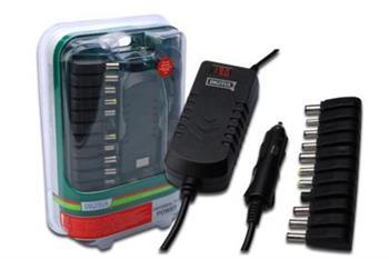 Digitus univerzální cestovní napájecí adaptér pro notebook + USB (12V - 30V) , 90W
