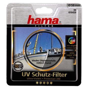 Hama filtr UV 390/0-HAZE Ultra Wide 3mm, M58, C14 zušlechtění, černý