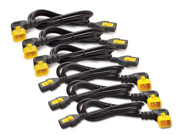 APC Power Cord Kit, ( 6ea) ,Locking, 10A, 100-230V, C13 to C14 (pravoúhlý) 1,2m
