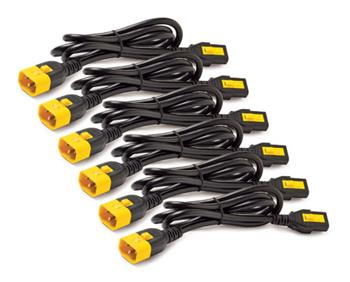 APC Power Cord Kit, ( 6ea) ,Locking, 10A, 100-230V, C13 to C14, 1,8m