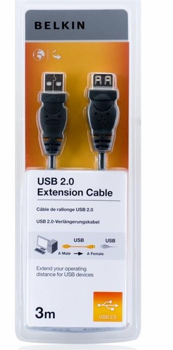 Belkin kabel USB 2.0 prodlužovací řada standard, 3m