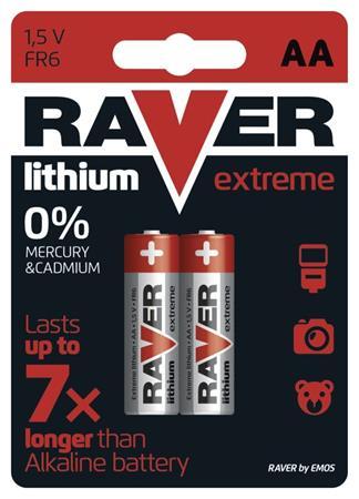 RAVER AA Extreme lithiová - 2 ks